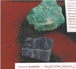 Chrysokoll und Sodalith, Goldkleber und Schmuckstein