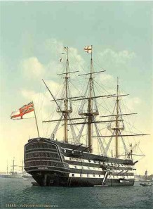 HMS Victory in Portsmouth um 1900