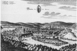 Hann Münden und seine Schlagden (Piers). Merian 17. Jh.