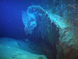 Das Loch, das der Torpedo des deutschen U-Boots in den Rumpf der Gairsoppa gerissen hat