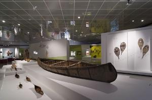"""Blick in den Ausstellungsbereich """"Weite und Wege"""""""