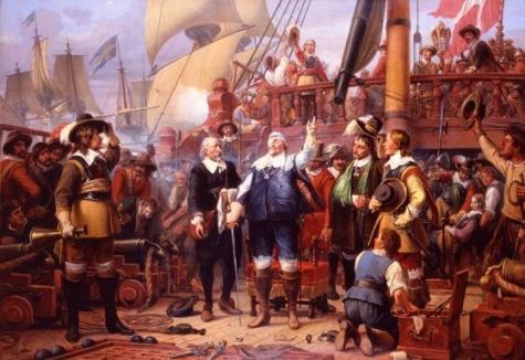 Christian IV  auf Flaggschiff