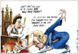 Martin_Rowson__Queen_Elizabeth_and_Margaret_Thatcher__1987__Cartoon_Museum_London