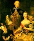 Trügerisches Familienidyll: Peter III. mit Katharina und Sohn Paul