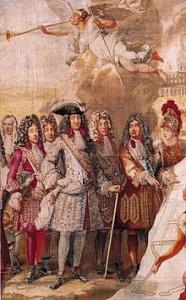 Ludwig XIV. mit Hofstaat