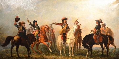 Carl von Blaas: Montecuccoli auf dem Schlachtfeld von Saint Gotthard, 8. August 1664 Von Carl von Blaas