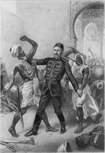 Tod von General Gordon bei Khartoum / J.L.G. Ferris, 1895