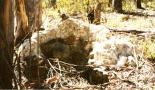 Die Überreste des Schornsteins Foto: Copyright K. Duncombe, FOBQS