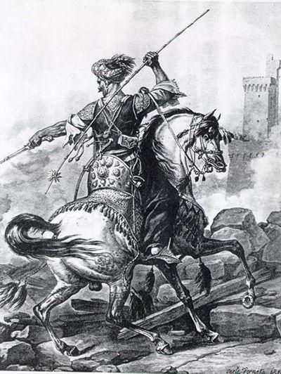 Berittener Mamluk, etwa 1810, © wikimedia commons