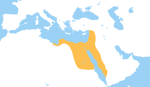 Ausdehnung des Mamluken-Reichs bei Baibars Tod, etwa 1279, © wikimedia commons